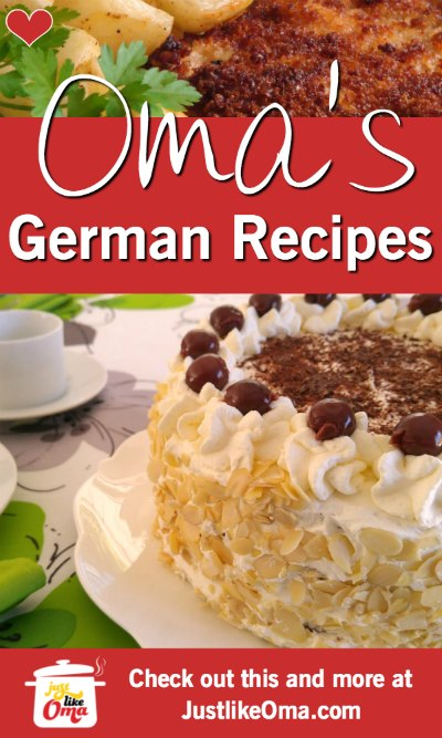 ❤️ Looking for German recipes just like Oma used to make? You'll find 100's of quick recipes here! https://www.quick-german-recipes.com/ #germanrecipes #justlikeoma #schnitzel #tortes
