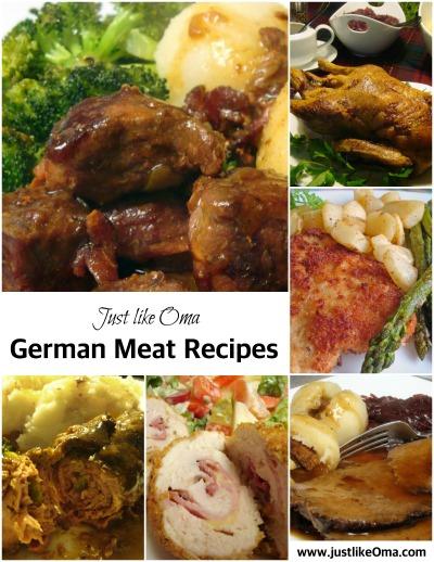 Just lIke Oma ~ German Meat Recipes