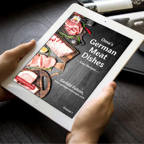 Oma's German Meat Dishes ecookbook on ipad