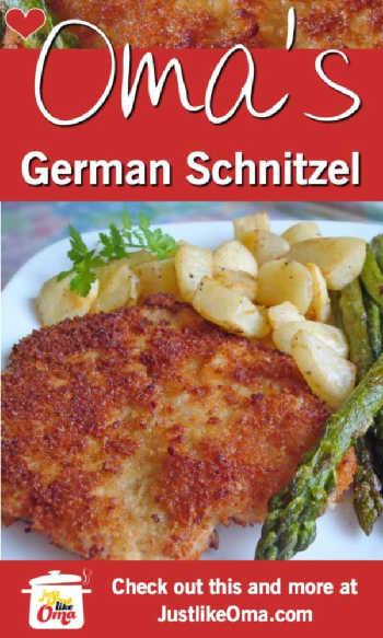 ❤️ Oma's German Pork Schnitzel https://www.quick-german-recipes.com/german-schnitzel-recipe.html #schnitzel #porkschnitzel