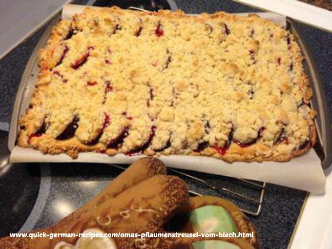 Plum Cake - Oma's Pflaumenstreusel