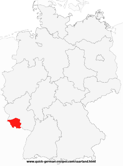 Saarland, Germany, map