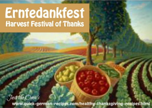 Celebrate Thanksgiving ~ German style!