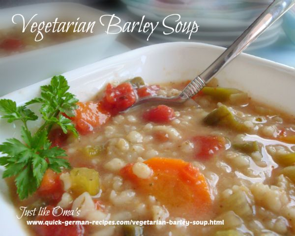 vegetarian barley soup recipe