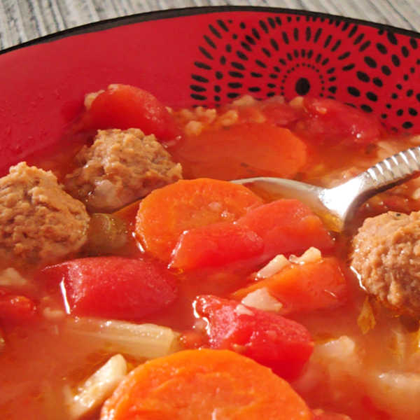 Albondigas Soup ... traditional Mexican Meatball and Rice soup made just like Oma!