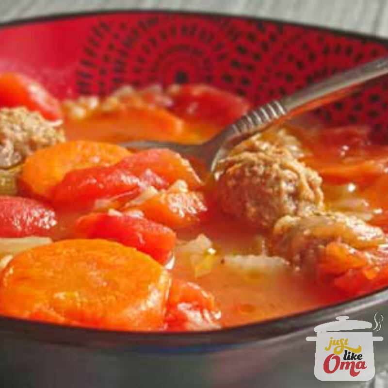albondigas meatballs with rice