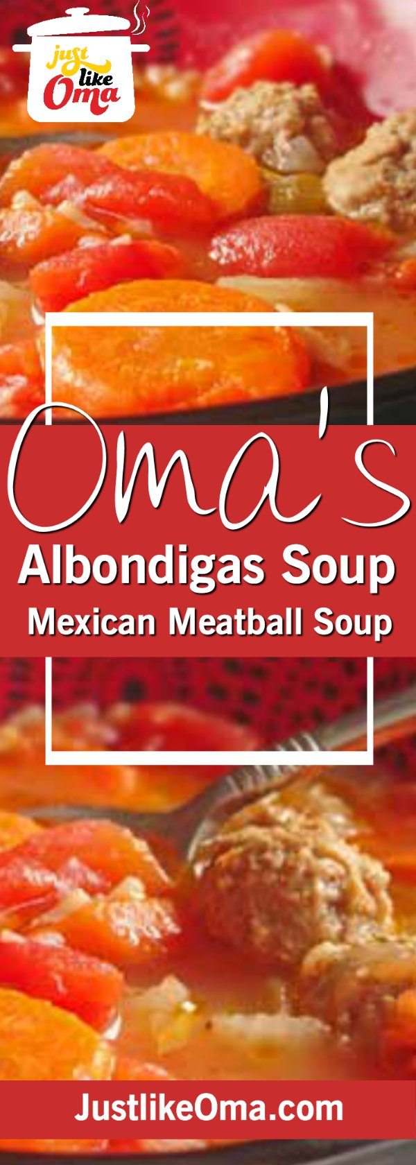 ❤️Albondigas Soup ... traditional Mexican Meatball and Rice soup made just like Oma! https://www.quick-german-recipes.com/albondigas-soup.html #albondigassoup #mexicansoup #justlikeoma