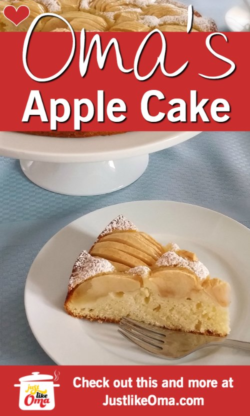 Oma's german apple cake is such a family favorite! Such a yummy treat full of that traditional apple flavor