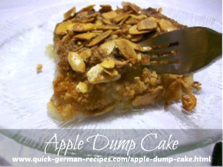 Apple Dump Cake - dump one after the other in the pan