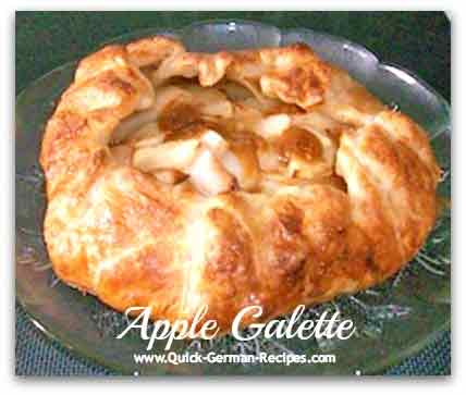 Caramel Apple Galette - easy puff pastry treat!