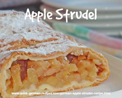German Food Recipe: Apple Strudel