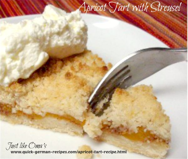 German Cake Recipe: Apricot Tart with Streusel