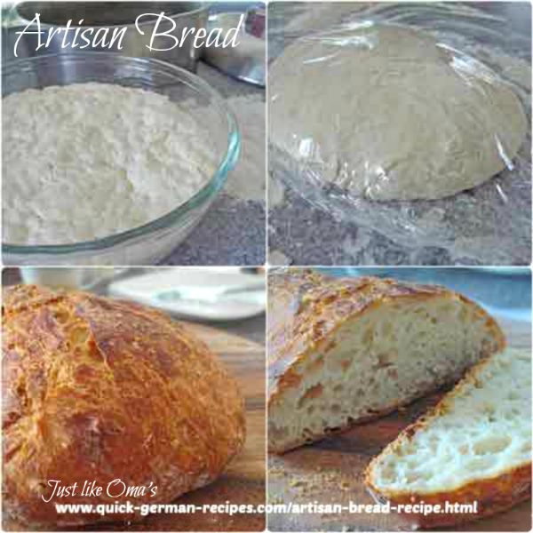 Artisan Bread ... tastes just like German Bread!