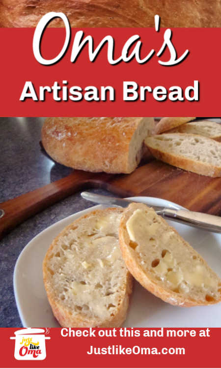 ❤️ Make this easy artisan bread that will remind you of the yummy bread and rolls in Germany. It's so very easy to make.