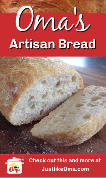 ❤️ No knead Artisan Bread. So easy to make. Tastes just like the fabulous rolls in Germany!