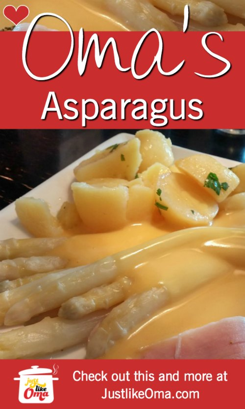 ❤️ Traditional German Asparagus and Hollandaise Sauce ... check it out at https://www.quick-german-recipes.com/how-to-cook-asparagus.html #asparagus #germanrecipe #justlikeoma