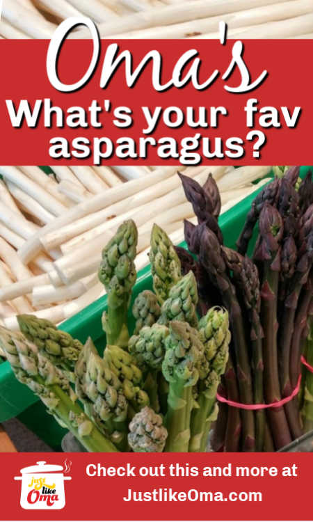 What's your favorite color of asparagus? Green, purple, and white. Looking for recipes for these?