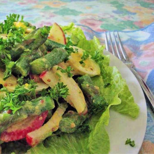 German Asparagus Salad Recipe made Just like Oma