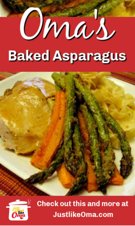 ❤️ Baked asparagus -- Rich's style  A wonderful technique to get fabulous veggies.