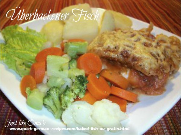 ❤️ Baked Fish au Gratin -- German-style  https://www.quick-german-recipes.com/baked-fish-au-gratin.html #bakedfish #justlikeom #germanrecipe