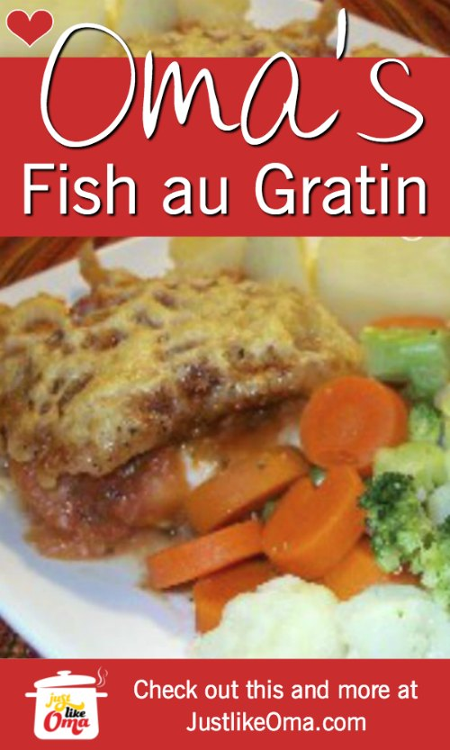Baked Fish au Gratin -- German-style! Such an easy meal to make just like oma!
