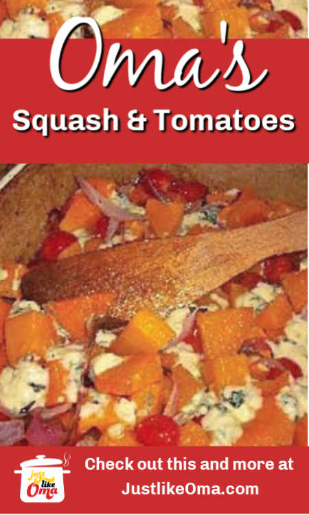 Butternut Squash baked with tomatoes and blue cheese. Such a strange combination, but, OH, how delicious!