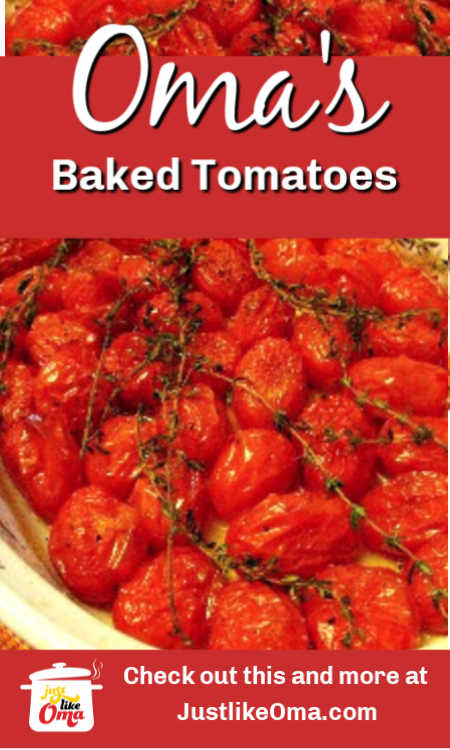 Baked Cherry Tomatoes -- such an easy way to add a special side dish to your dinner menu.