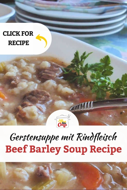 Beef barley soup made just like Oma made in Germany.