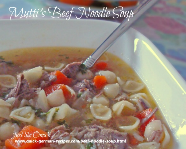 German beef noodle soup