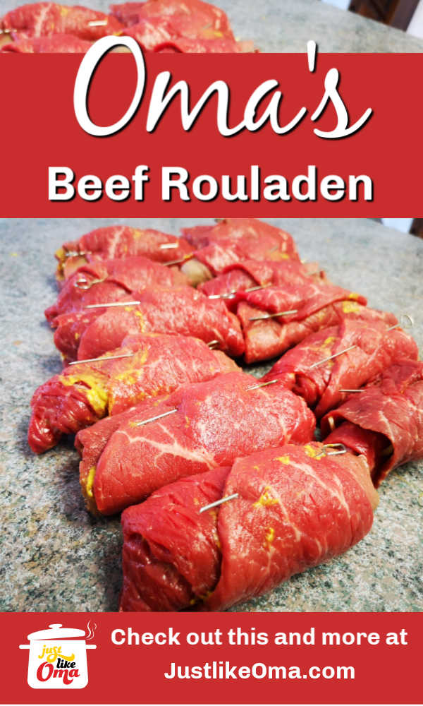Beef Rouladen. Traditional, fun to make, and DELICIOUS