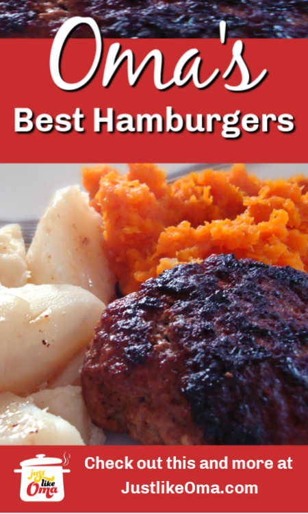 Oma's easy and best hamburger recipe. You'll love this one!