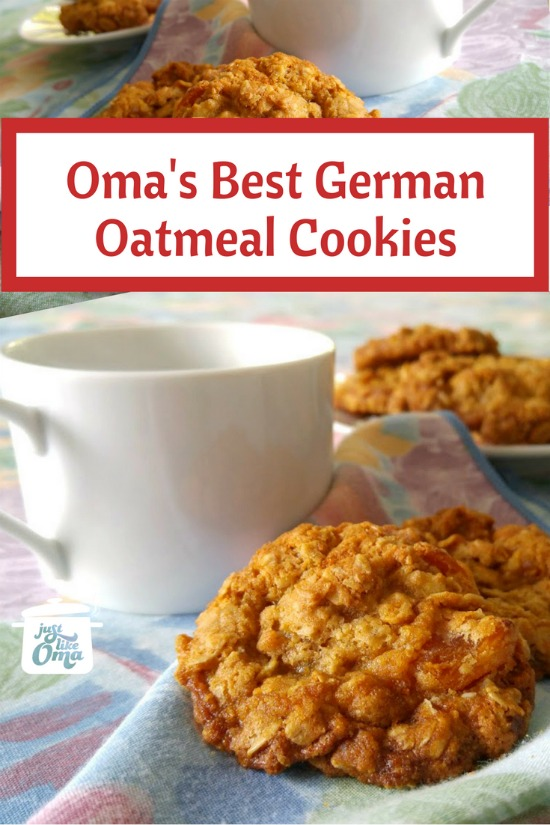 Oma' Best Oatmeal Cookie Recipe, a real German treat.