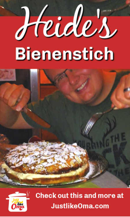 Here's a traditional Bienenstich made with a yeast dough and filled with an unusual Caramel Custard Cream
