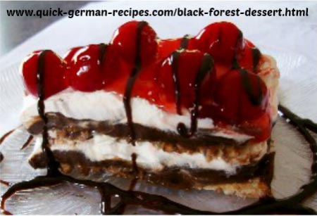 Black Forest Dessert - soda crackers, pudding, Cool Whip