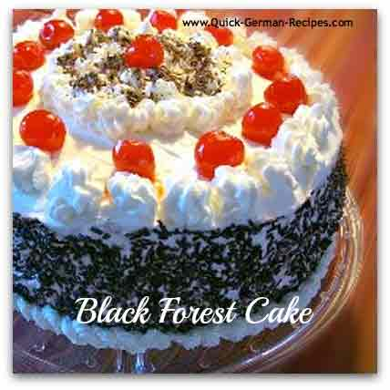 Black Forest Cake - QUICK - uses a cake mix and pie filling