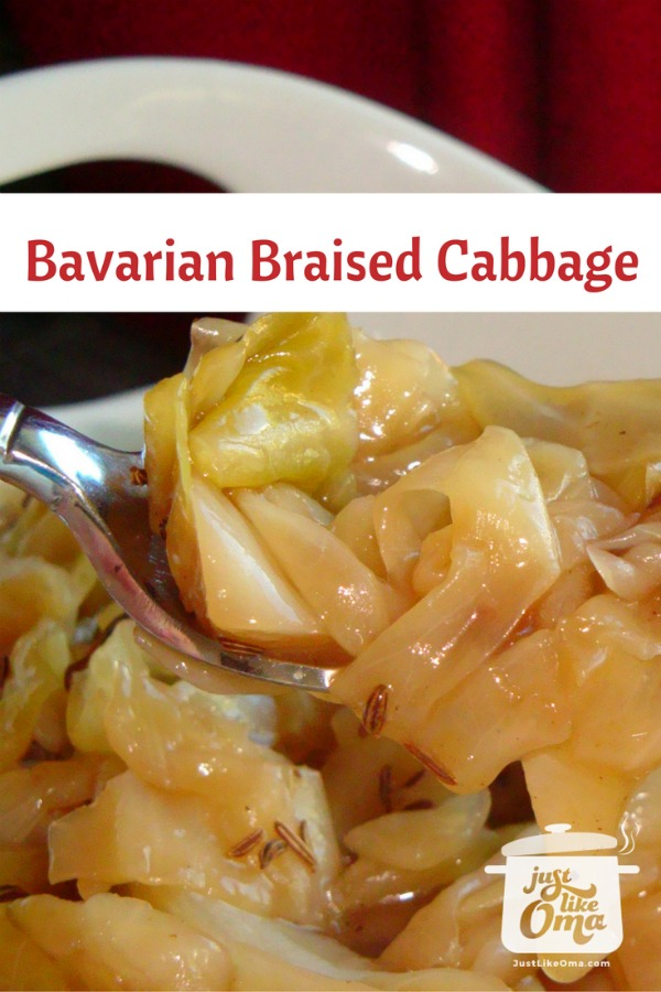 Bowl of braised Bavarian Cabbage