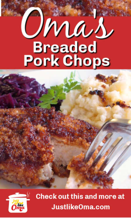 ❤️Breaded Pork Chops Recipe, German-style and made just like Oma! Among one of the tastiest and quickest meal ideas!