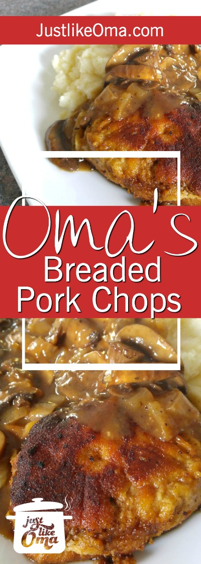 Breaded Pork Chops Recipe  --  German-style ❤️ made just like Oma! https://www.quick-german-recipes.com/breaded-pork-chop-recipes.html