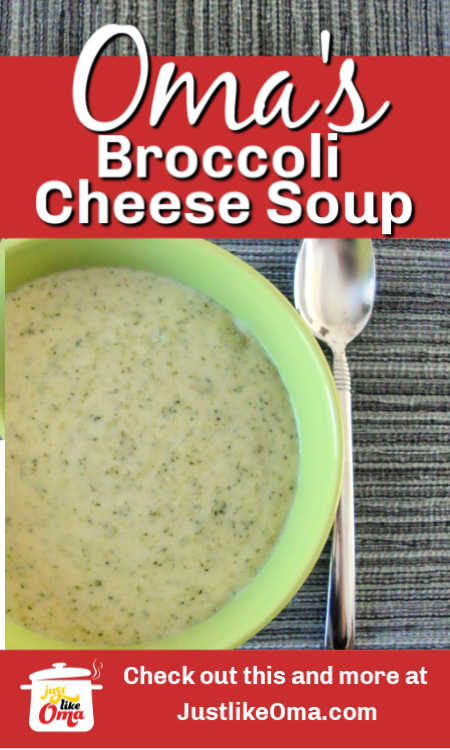 Make Andy's Broccoli Cheese Soup Recipe -- You'll love how simple this is and how wonderfully creamy as well.