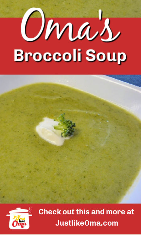 ❤️ German Cream of Broccoli Soup -- quick and easy, creamy and flavorful!