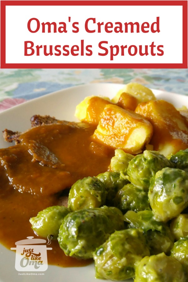 ❤️ Brussels Sprouts - German style mad just like Oma.  Recipe: https://www.quick-german-recipes.com/brussel-sprouts-recipes.html #Brusselssprouts #germanrecipe #justlikeoma
