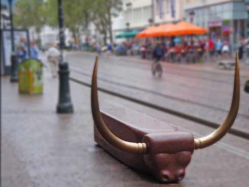 Bull bench in Freiburg