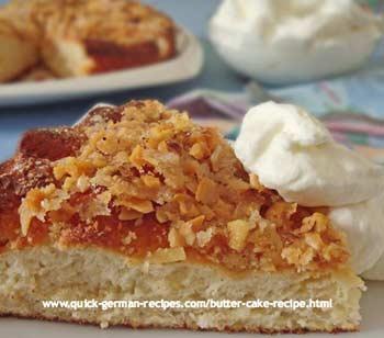 German Cake: Butter Cake Recipe