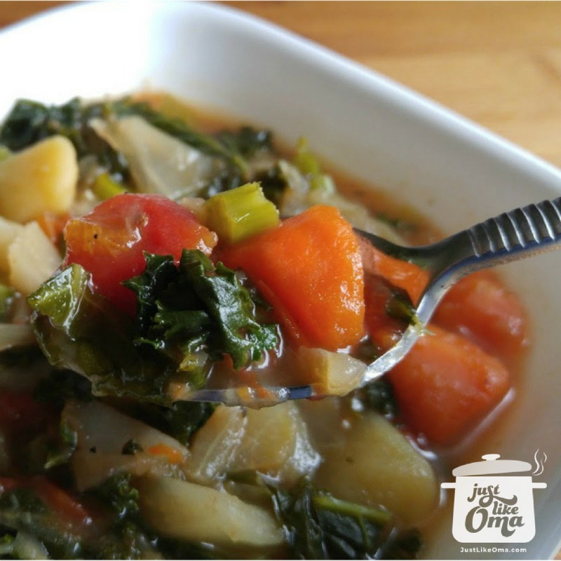 ❤️ Looking for a really GOOD cabbage diet soup? This one has some additions that make it rock #cabbagesoup #germanrecipes #justlikeoma https://www.quick-german-recipes.com/cabbage-diet-soup.html