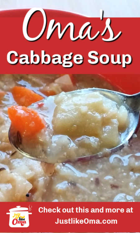 Make this traditional German cabbage soup recipe, just like Oma's. Perfect comfort food.