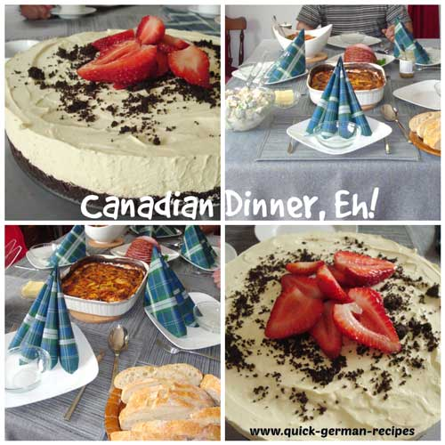 Canadian Dinner with Lemon Cheesecake