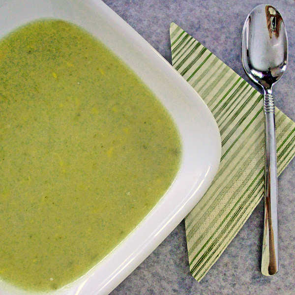 Oma's celery soup is a wonderful hearty meal. Try crumbling some crackers inside to add a nice light crunch!