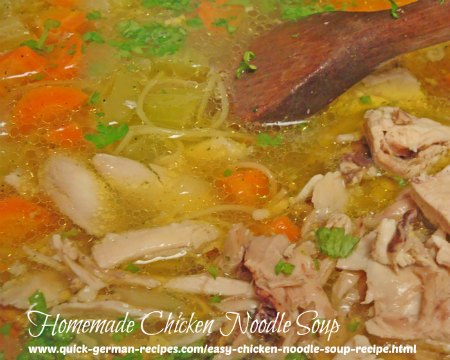 German Food Recipes: Homemade Chicken Noodle Soup