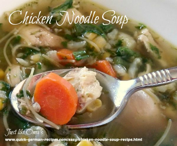 Chicken Noodle Soup - easy from scratch - YUMMY!
