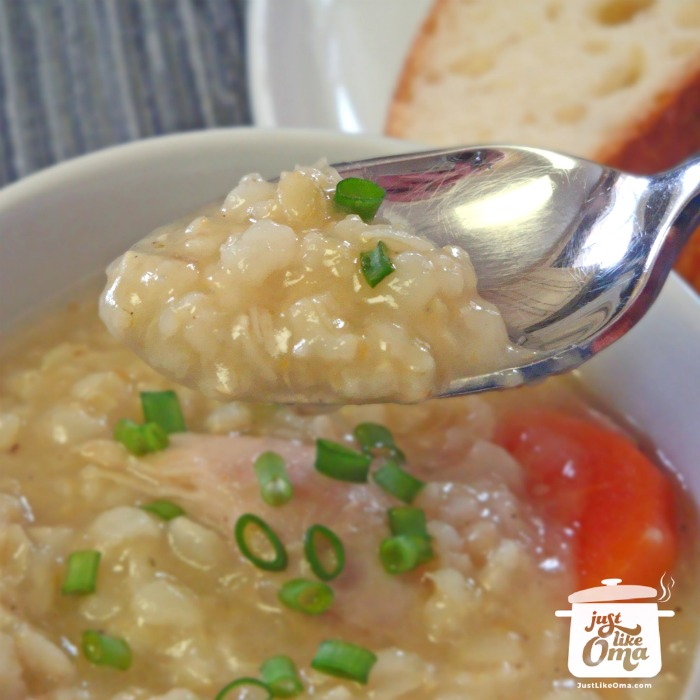 ❤️ Homemade chicken rice soup made just like Oma! https://www.quick-german-recipes.com/chicken-rice-soup.html  #chickensoup #germanrecipe #justlikeoma